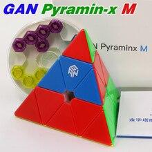 Gan Magische Kubus Gan Piramide 3X3X3 Magnetische Verbeterde Core Positionering Magneet Stickerloze Driehoek 4 Gezichten Porfessional speed Cubes