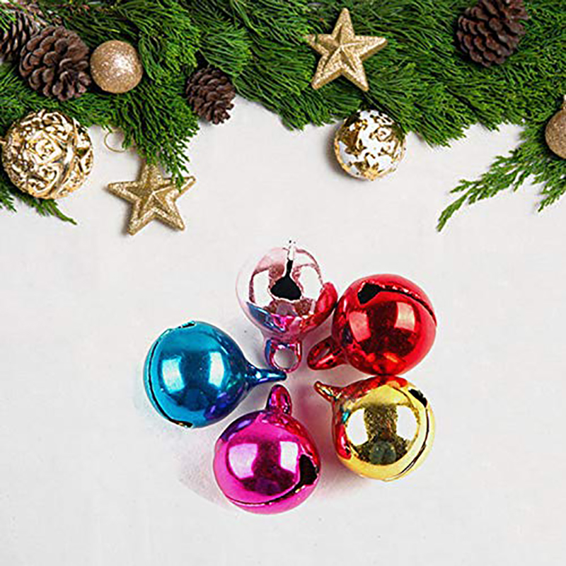 CHRISTMAS BELL METAL CHARMS CHRISTMAS CARDMAKING EMBELLISHMENTS *50* MINI BELLS