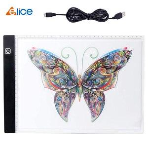 Elice A4 светодиодный планшет для рисования USB СВЕТОДИОДНЫЙ светильник коробка для копирования цифровая Графическая панель электронная худож...