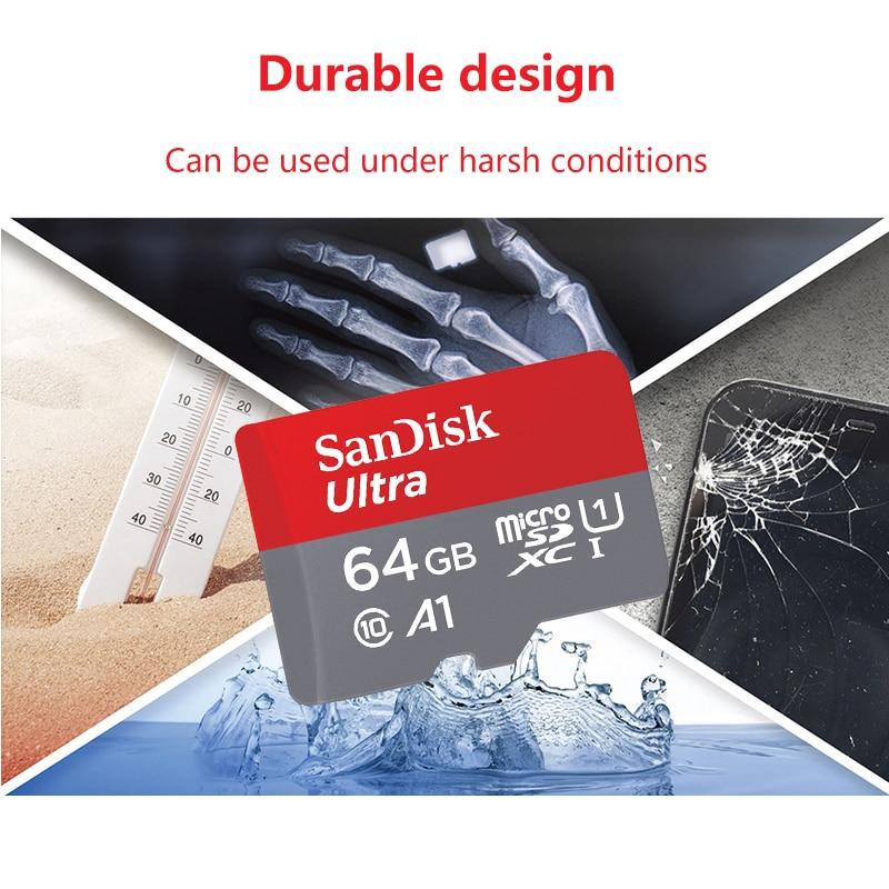 Micro SD карта памяти SanDisk, 32 ГБ, 64 ГБ, 128 ГБ, 200 ГБ, 256 ГБ, 400 гб-4
