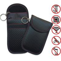 Faraday-funda de llaves para coche, bolso bloqueador de señal FOB, blindaje RFID, organizador Universal para privacidad