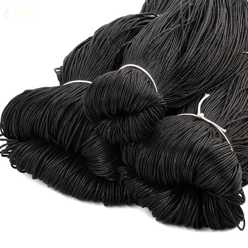 1.5mm 2.0mm 2.5mm High Quality Waxed Cotton Cords For Wax Jewelry Making DIY Bead String Bracelet Sewing Leather Necklace