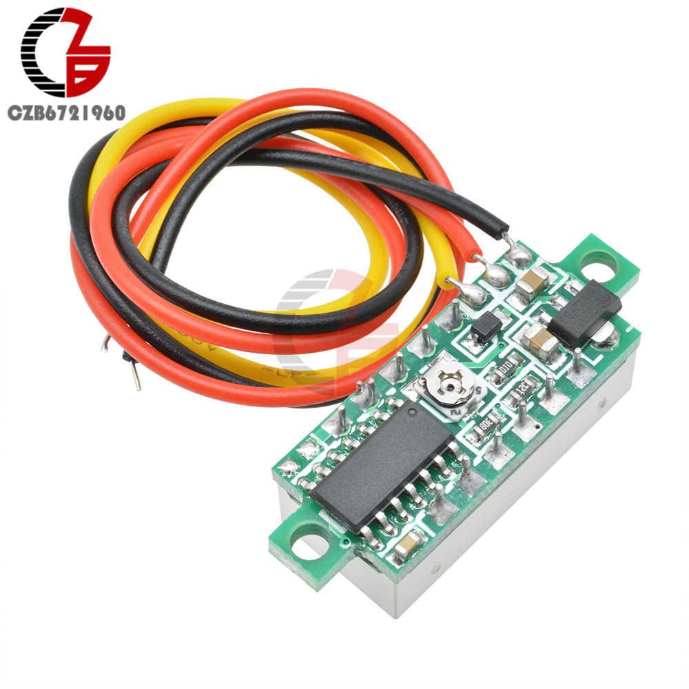 0.28 אינץ DC LED דיגיטלי מד מתח 0-100V מתח מד רכב אוטומטי נייד כוח מתח Tester גלאי 12V אדום ירוק כחול צהוב