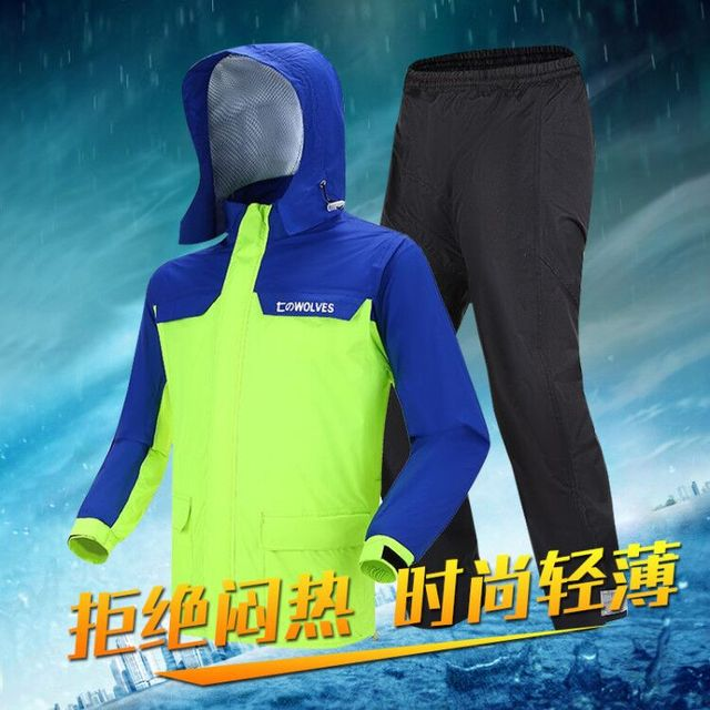 Adults Raincoat Rain Pants Suit Motorcycle Raincoat Thin Waterproof Rain Coat Outdoor Hiking Rain Jacket Capa De Chuva Gift 1