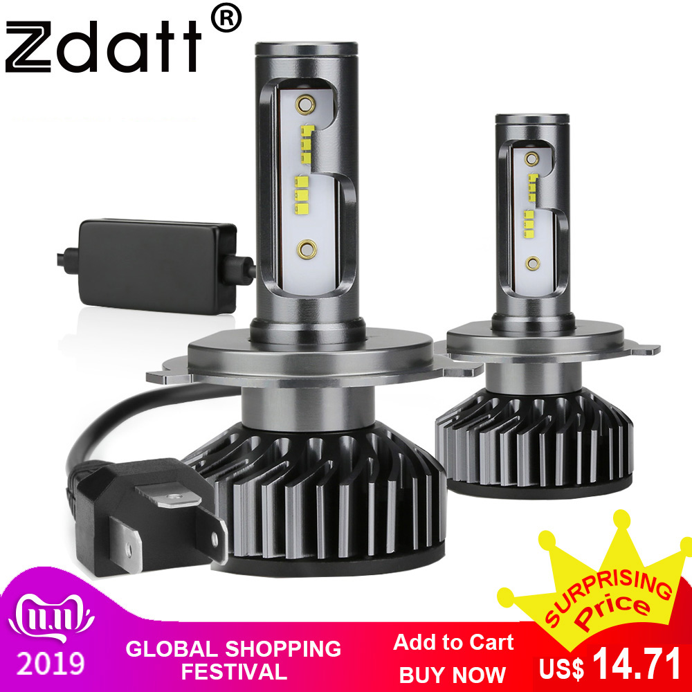 Zdatt H7 LED Bulb Car H4 LED H11 9005 9006 H8 H9 HB3 Canbus Headlights Car Light 12000LM 100W 6000K 12V Led Automobiles Lamp