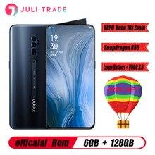 """Oppo リノ 10x ズーム携帯電話 6.6 """"フルスクリーンサポート NFC Snapdragon 855 オクタコア 6 ギガバイトの RAM 128 ギガバイト ROM 4065mAh 指紋 ID"""