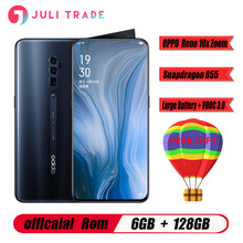 "Téléphone portable zoom Oppo Reno 10x 6.6 ""Support plein écran NFC Snapdragon 855 noyau Octa 6GB RAM 128GB ROM 4065mAh identification dempreintes digitales"
