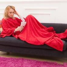 Однотонное красное одеяло пуловер с капюшоном свитер Повседневная