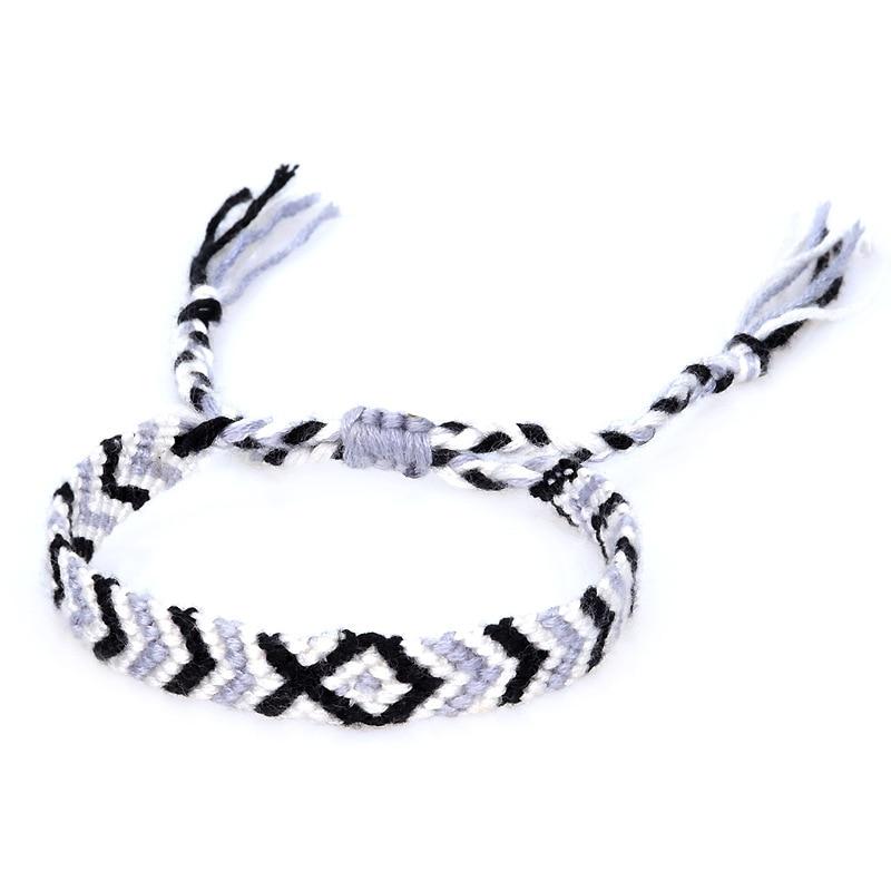 ABL114(1), 1cm Wide Call Me By your Name Handmade Brazilian String Cord Chevron Elio Woven Braided Hippie Friendship Bracelets