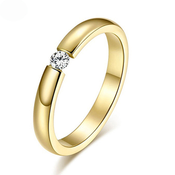Rose Gold Color Assembly Anel Feminino Bijoux Aneis 0.5 Ct Engagement Ring Zirconia Jewelry Rings 8
