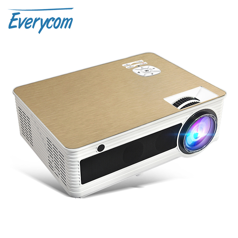 Everycom M5 LED Full HD Projektor 4000 Lumen Unterstützung 1080P Video Beamer Heimkino 1280*800 Android Bluetooth 5G WiFi 4K Option