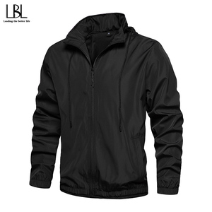 Bomber Jacket Men Solid Autumn Spring 2020 Casual Mens Jackets Outwear Slim Fit Mens Coat Tracksuit Fitness Clothing Sportswear