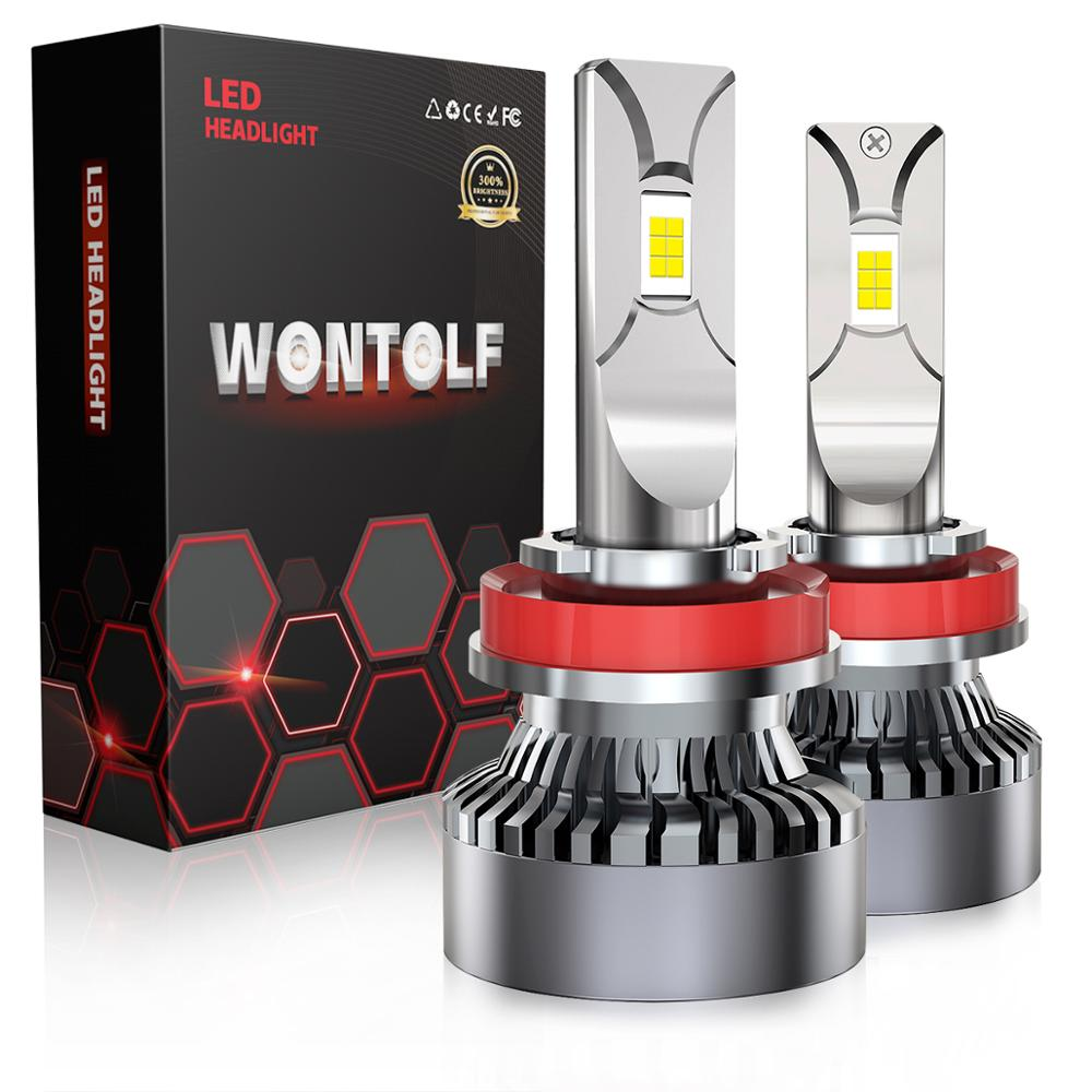 Wontolf H1 LED Headlight Bulbs 120W 20000LM Super Bright Waterproof CSP Chips 6000K Cool White All-in-One Conversion Kit
