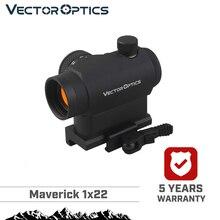 Vector optical Maverick 1x22 cadre de visée tactique Compact à points rouges, à libération rapide, monture QD pour vrais fusils, pistolets, Airsoft