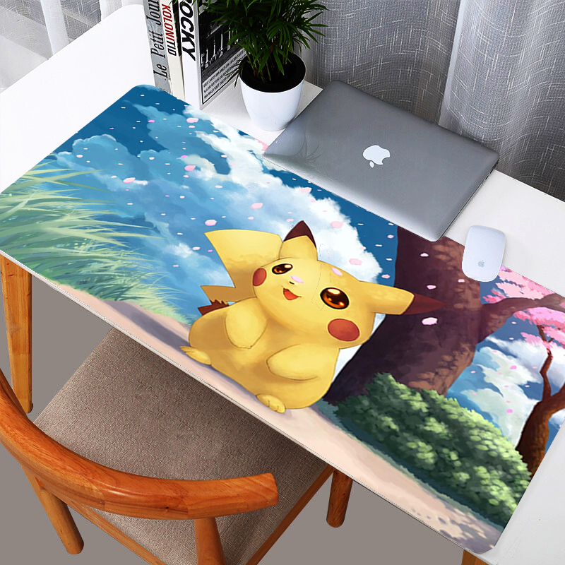 Cartoon Pokemons  Gaming Large Mouse Pad Gamer Big Mouse Mat Computer Mousepad Natural Rubber Mause Pad Keyboard Desk Mat Game 1