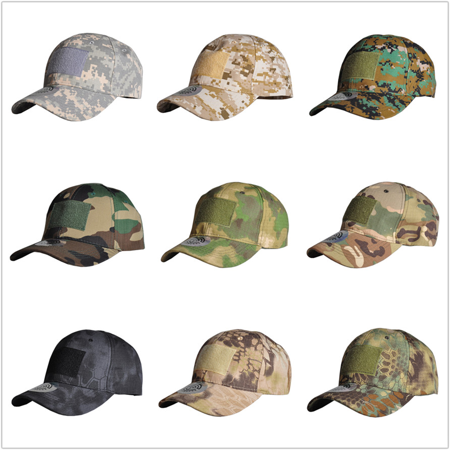 HAN WILD Outdoor Hunting Cap Tactical Cap Sport Snapback Stripe Caps Camouflage Hat Simplicity Military Army Camo Hat Unisex