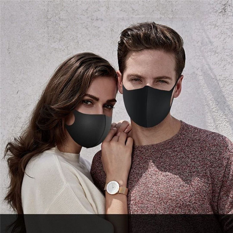 2pcs Multi-Style Kids Solid Kpop Cotton Mouth Mask Anti Dust Mouth-muffle Washable Black Mask On Face For Adult Respirator Mask