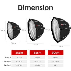 Image 5 - Triopo K90 90cm fotoğraf taşınabilir Bowens dağı sekizgen şemsiye Softbox + petek ızgara açık yumuşak kutu stüdyo flaş ışığı için