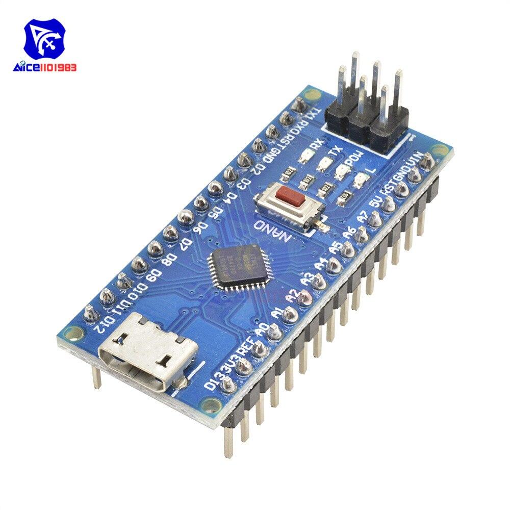 2PCS Nano V3.0 CH340G USB ATmega328 16M 5V Micro-Controller for Arduino