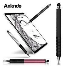 Universele 2 In 1 Stylus Pen Tekening Tablet Capacitieve Scherm Caneta Touch Pen Voor Mobiele Android Telefoon Smart Potlood Accessoires