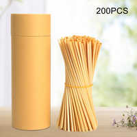 100/200/300Pcs Wheat Drink Straws Biodegradable Eco Frendly Straws Bulk for Birthday Wedding Bridal Baby Shower Party Supplies D