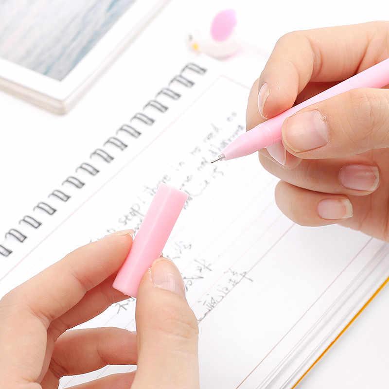 1 Buah Hitam Flamingo Kartun Gel Pena Lucu Pena Ajaib Kawaii Gel Pena untuk Sekolah Menulis Baru Alat Tulis Anak-anak Hadiah