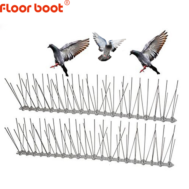 Floor boot 1 12M bird repeller plastic stainless steel bird spikes anti Bird /Pigeon pest control bird repellent garden supplies|Repellents| |  - title=