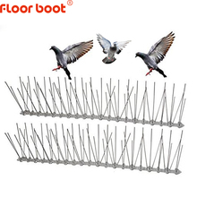 Floor boot 1 12M bird repeller plastic stainless steel bird spikes anti Bird /Pigeon pest control bird repellent garden supplies