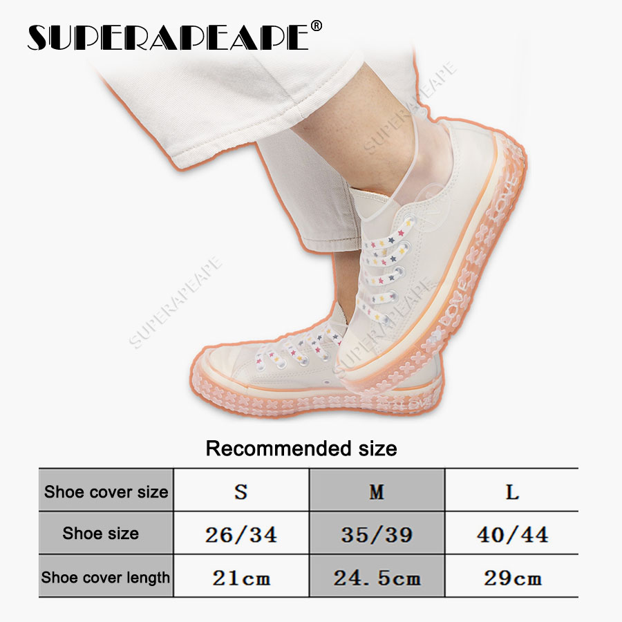 Купить с кэшбэком Silicone Overshoes Reusable Waterproof Rainproof Men Shoes Covers Rain Boots Non-slip Washable Unisex Wear-Resistant Recyclable