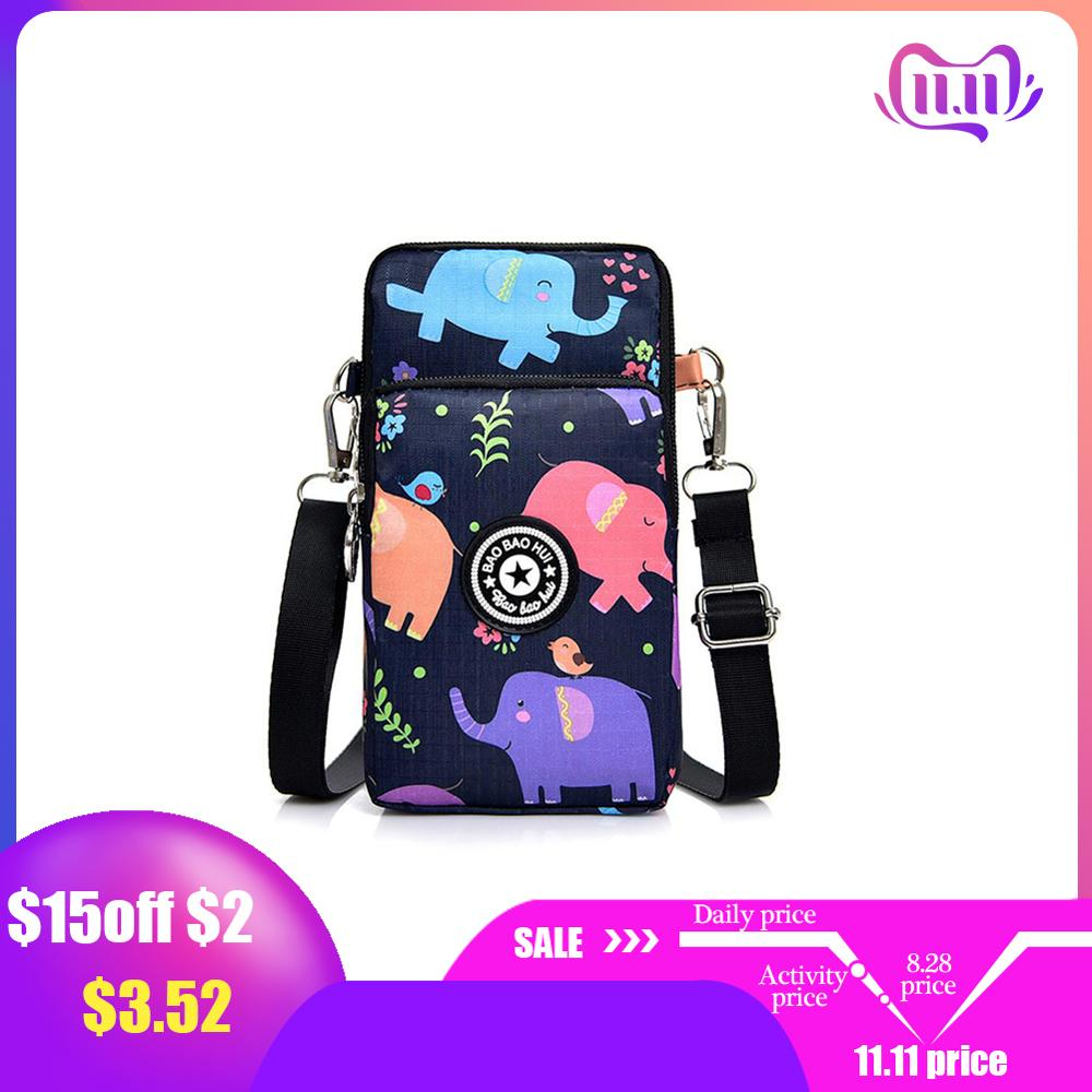 Women's Messenger Bag Korea Vertical Phone Bag Multifunctional Sports Arm Single Shoulder Cross-body Hanging Neck Purse Mini Bag