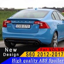 Alerón de material ABS de alta calidad para coche, alerón trasero de coche, paisajismo, decorativo, para Volvo S60 2009 2016