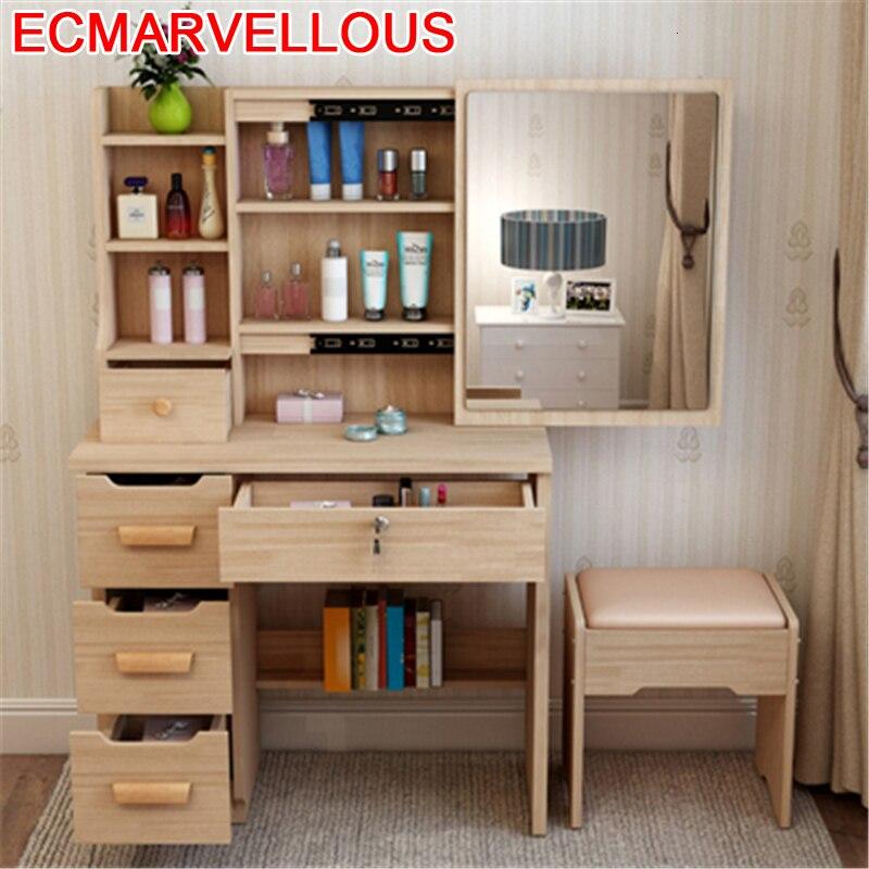 Mesa De Maquillaje Dresser Tocadore Para El Dormitorio Camera Da Letto Tablo Wood Bedroom Furniture Quarto Korean Dressing Table