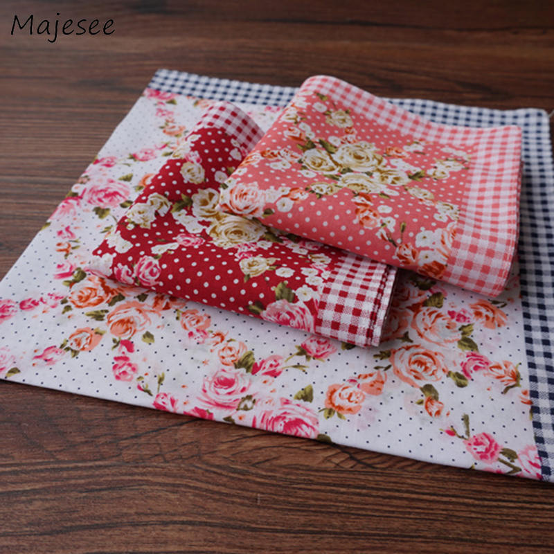 Handkerchiefs Women Flower Cotton Kawaii All-match Korean Casual Womens Comfortable Trendy Various Colors Female Handkerchief