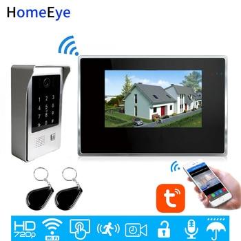 WiFi Video Intercom System IP Video Door Phone TuyaSmart App Remote Unlock Code Keypad+IC Card Home Access Control Touch Screen homsecur waterproof touch keypad ic access control system electric lock with keys