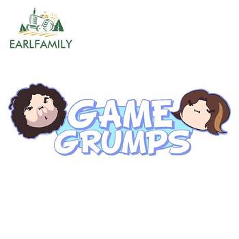 EARLFAMILY 13cm x 4.5cm For Game Grumps Fine Decal Graffiti Car Stickers Waterproof Creative Decoration For JDM SUV RV image