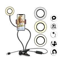 نوهون حامل هاتف المحمول مع LED حلقة ضوء ل يوتيوب لايف تيار ماكياج كاميرا مصباح صور استوديو Selfie آيفون 11 برو