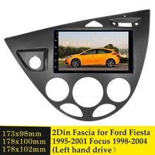 Panneau de cadre de voiture Double Din pour Ford Fiesta 1995 2001 Focus 1998 2004, côté conduite gauche, rénovation de voiture, cadre DVD Kit d'outils pour habillage