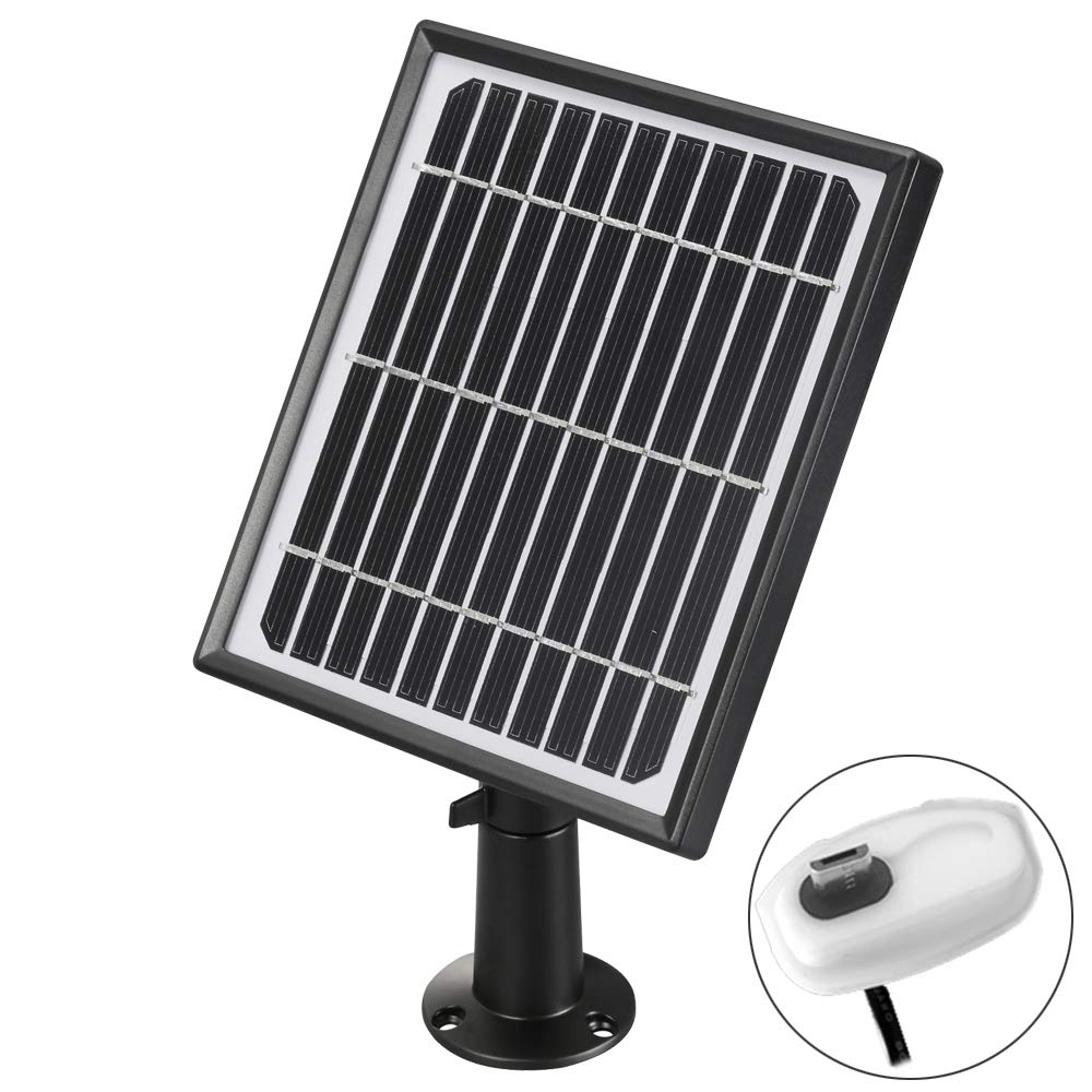 Solar Panel For Rechargeable Battery Powered IP Security WiFi Camera