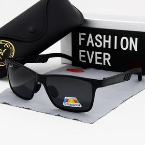 Image 2 - نظارة بعدسات مستقطبة نظارات شمسية UV400 ماركة كلاسيكية نظارات شمسية القيادة رجالي مصمم masculino ذكر مرآة نظارات