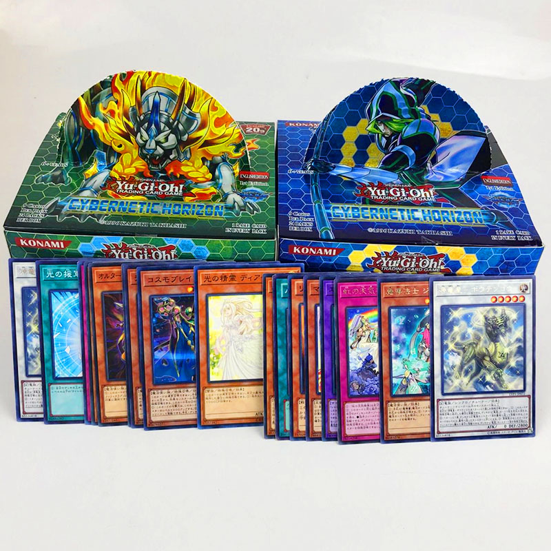 54pcs 216pcs/set Anime Japan Yu Gi Oh Game Cards Carton Yugioh Game Cards Japan Boy Girls Yu-Gi-Oh Cards Collection For Fun