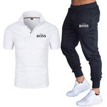2021 mâle patron chemise polo mode manches courtes short deux-pièces décontracté sport mâle haute qualité respirant