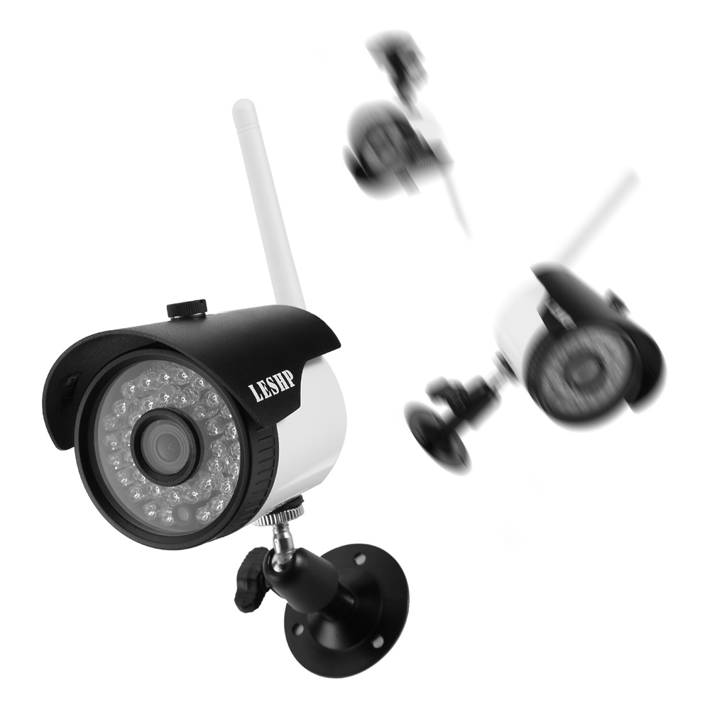 LESHP Waterproof H.264 1.0 MP1280X720 HD WIFI Security Mini IP IR Bullet Camera SN-IPC-4006FSW10 Network Surveillance Camera