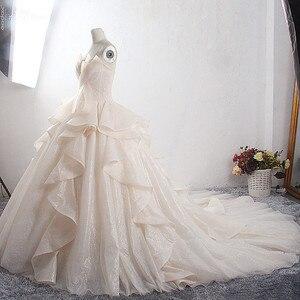 Image 4 - Robe de mariée de luxe, LZ398, robe de mariée magnifique et brillante, sur mesure, nouvelle collection