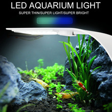 2020 New Ultra-Thin LED Fish Tank Aquarium Clip Light Water Grass Lighting Lamp Highlight LED Fish Tank Light Aquarium LED Light sunsun ads aquarium led lighting aquatic plant grass fish tank led light super bright lamp aquarium light 12 24w grow lampe 220v