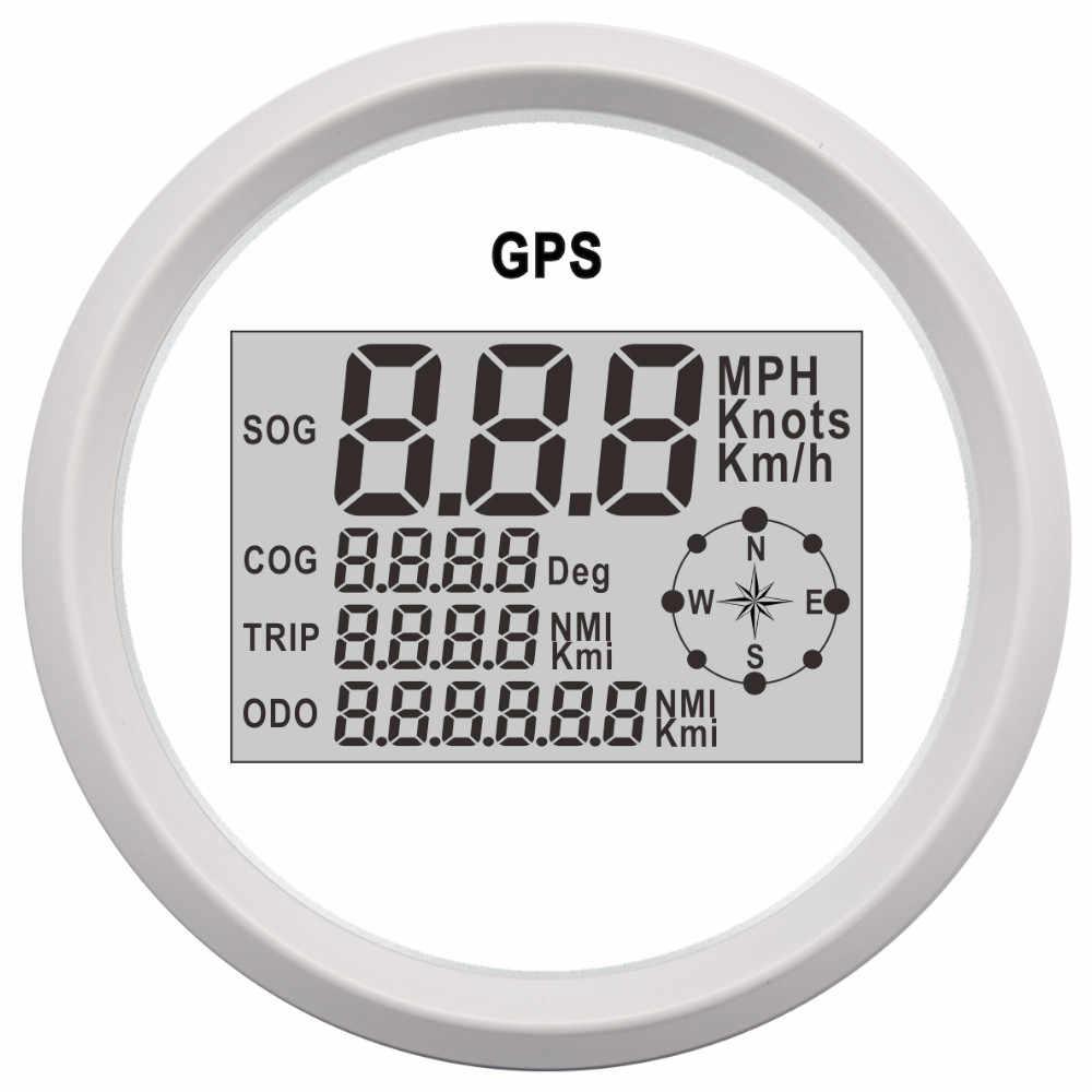 85 Mm Xe Thuyền Kỹ Thuật Số GPS Đo Tốc Độ Đồng Hồ Đo 0 ~ 999 Hải Lý/Giờ Dặm/Giờ Km/H Có Thể Điều Chỉnh GPS Tốc 12 V/24 V Có Đèn Nền Cho Động Cơ Máy