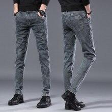 2019 autumn New men Jeans Black Classic Fashion Designer Denim Skinny J