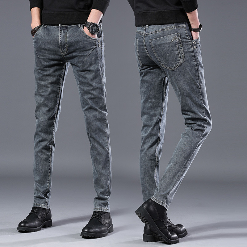 2020 Spring Autumn New Men Jeans Black Classic Fashion Designer Denim Skinny Jeans Men's Casual High Quality Slim Fit Trousers