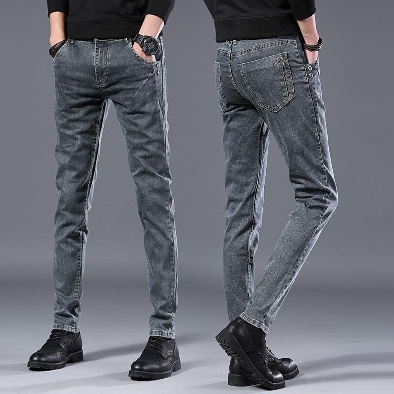 2020 Spring Autumn New Men Jeans Black Classic Fashion Designer Denim Skinny Jeans Men's Casual High Quality Slim Fit Trousers