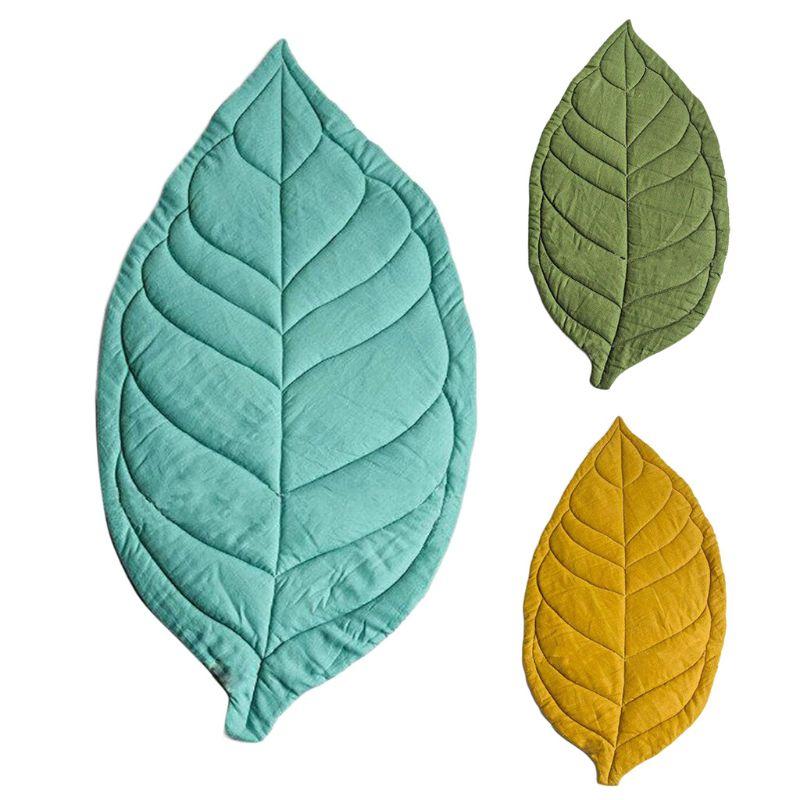 Newborn Baby Carpet Kid Children Room Decor Leaf Shape Soft Crawling Play Mat