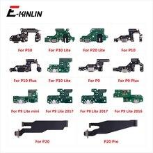 Части платы разъема для зарядки гибкий кабель с микрофоном для HuaWei P30 P20 Pro P10 P9 Plus Mini P8 Lite